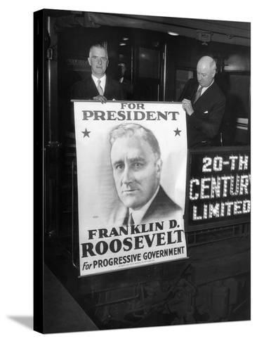 Giant Poster of New York Governor Franklin Roosevelt, Candidate for Democratic Pres Nomination--Stretched Canvas Print