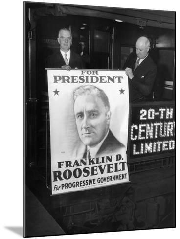 Giant Poster of New York Governor Franklin Roosevelt, Candidate for Democratic Pres Nomination--Mounted Photo