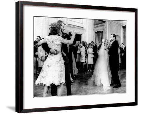 Nixon-Cox White House Wedding Reception--Framed Art Print