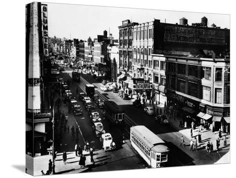 Harlem's Famous Thoroughfare, 125th Street in 1943--Stretched Canvas Print