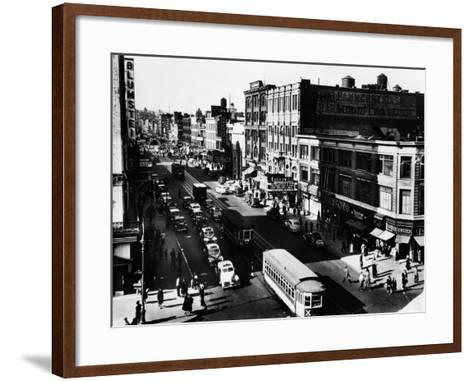 Harlem's Famous Thoroughfare, 125th Street in 1943--Framed Art Print