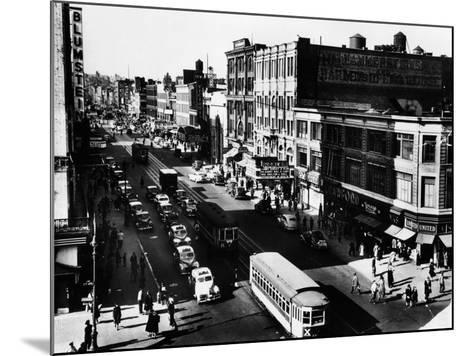 Harlem's Famous Thoroughfare, 125th Street in 1943--Mounted Photo
