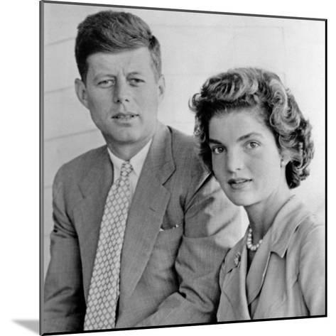 Engagement Portrait of John Kennedy and Jacqueline Bouvier--Mounted Photo