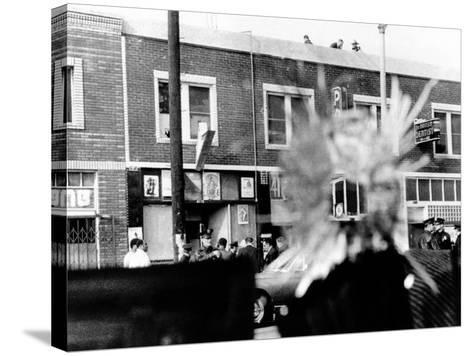A Bullet Hole Made During an Exchange of Gunfire of LA Police and Black Panthers, Dec 8, 1969--Stretched Canvas Print