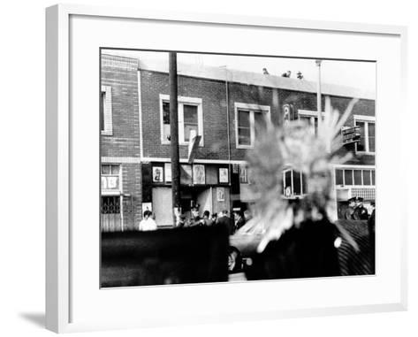 A Bullet Hole Made During an Exchange of Gunfire of LA Police and Black Panthers, Dec 8, 1969--Framed Art Print