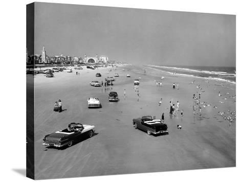 Daytona Beach Is 23-Mile-Long and 600 Feet Wide--Stretched Canvas Print