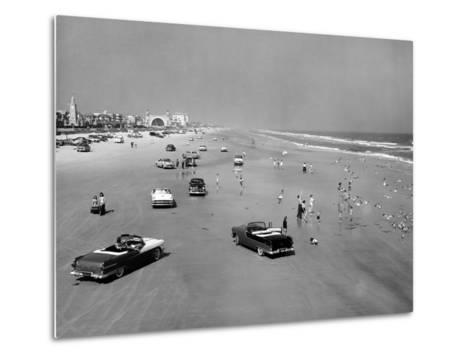 Daytona Beach Is 23-Mile-Long and 600 Feet Wide--Metal Print