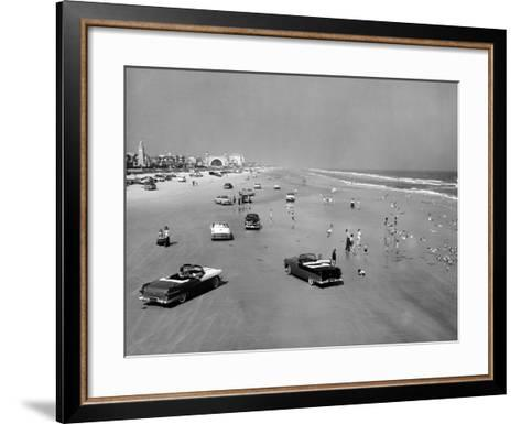 Daytona Beach Is 23-Mile-Long and 600 Feet Wide--Framed Art Print