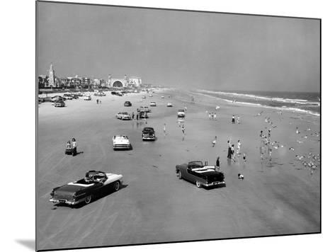 Daytona Beach Is 23-Mile-Long and 600 Feet Wide--Mounted Photo