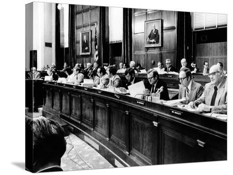 House Judiciary Committee in Deliberations Leading to Impeachment Vote of Pres Nixon, Jul 14, 1974--Stretched Canvas Print