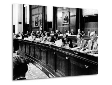 House Judiciary Committee in Deliberations Leading to Impeachment Vote of Pres Nixon, Jul 14, 1974--Metal Print