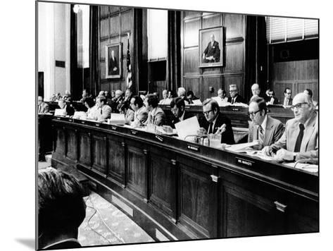 House Judiciary Committee in Deliberations Leading to Impeachment Vote of Pres Nixon, Jul 14, 1974--Mounted Photo