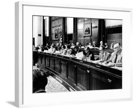 House Judiciary Committee in Deliberations Leading to Impeachment Vote of Pres Nixon, Jul 14, 1974--Framed Art Print