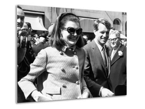 Jacqueline Kennedy in St Patrick's Day Parade--Metal Print