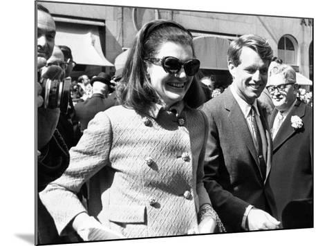 Jacqueline Kennedy in St Patrick's Day Parade--Mounted Photo