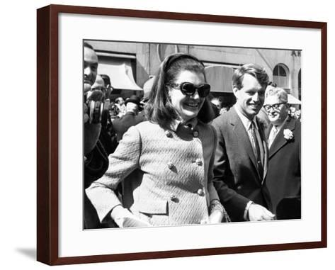 Jacqueline Kennedy in St Patrick's Day Parade--Framed Art Print