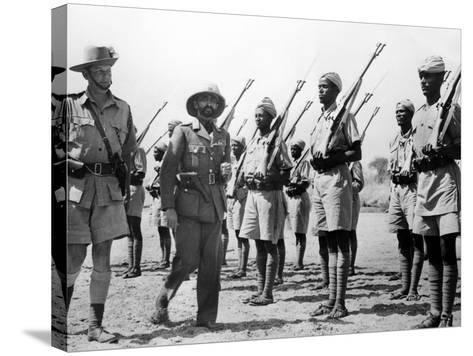 Deposed Ethiopian Leader, Haile Selassie with Ethiopians Soldiers Fighting for British, Mar 10 1941--Stretched Canvas Print