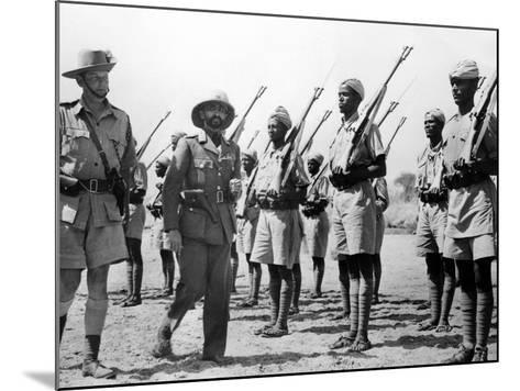 Deposed Ethiopian Leader, Haile Selassie with Ethiopians Soldiers Fighting for British, Mar 10 1941--Mounted Photo