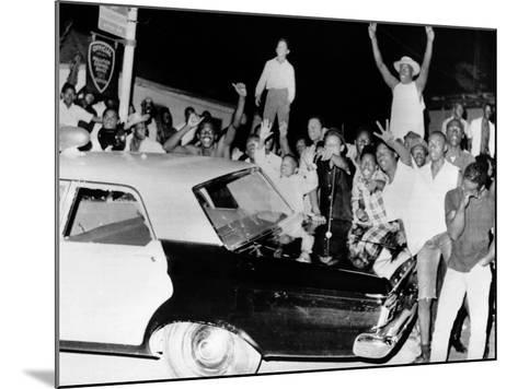African American Jeer Police During the 1965 Watts Riots--Mounted Photo