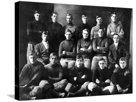 1910 Abilene High School Football Team, on Which President Dwight Eisenhower Played--Stretched Canvas Print