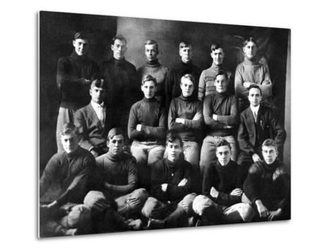 1910 Abilene High School Football Team, on Which President Dwight Eisenhower Played--Metal Print