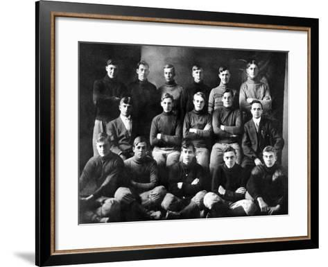 1910 Abilene High School Football Team, on Which President Dwight Eisenhower Played--Framed Art Print