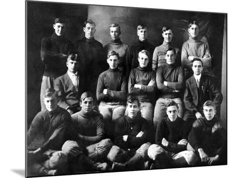 1910 Abilene High School Football Team, on Which President Dwight Eisenhower Played--Mounted Photo