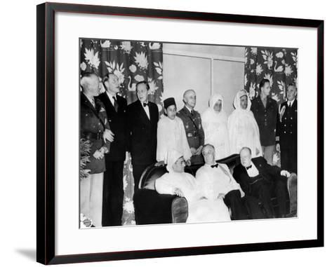 Allied Nations War Strategy Conference in Casablanca, French Morocco, Feb 1, 1943--Framed Art Print