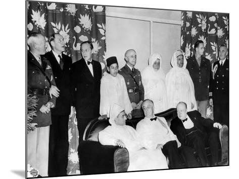 Allied Nations War Strategy Conference in Casablanca, French Morocco, Feb 1, 1943--Mounted Photo