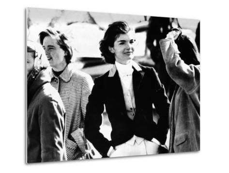Jacqueline Kennedy at a Hunt in Virginia in June 1961--Metal Print