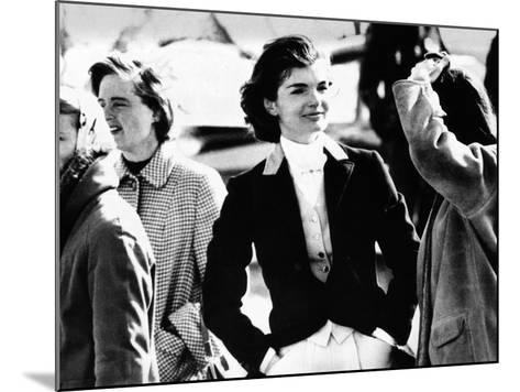 Jacqueline Kennedy at a Hunt in Virginia in June 1961--Mounted Photo