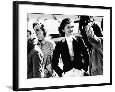 Jacqueline Kennedy at a Hunt in Virginia in June 1961--Framed Art Print