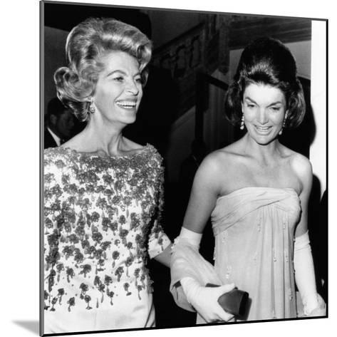 Jacqueline Kennedy with the Wife of the French Ambassador, Nicole Alphand--Mounted Photo