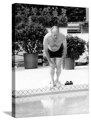 President Ford Swimming in the New White House Swimming Pool, July 5, 1975--Stretched Canvas Print