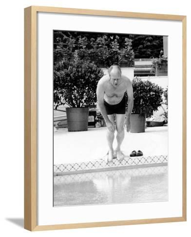 President Ford Swimming in the New White House Swimming Pool, July 5, 1975--Framed Art Print