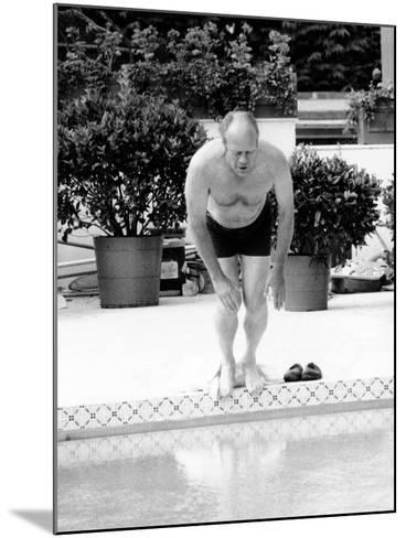President Ford Swimming in the New White House Swimming Pool, July 5, 1975--Mounted Photo