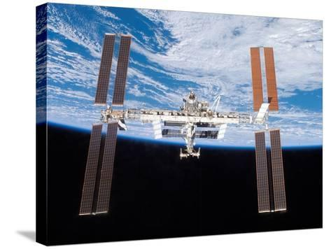 International Space Station in 2007--Stretched Canvas Print