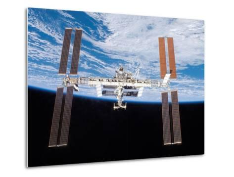 International Space Station in 2007--Metal Print
