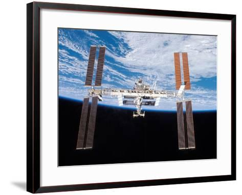 International Space Station in 2007--Framed Art Print