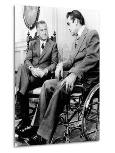Vice President Spiro Agnew Visits with Right Wing Segregationist Democratic Governor George Wallace--Metal Print