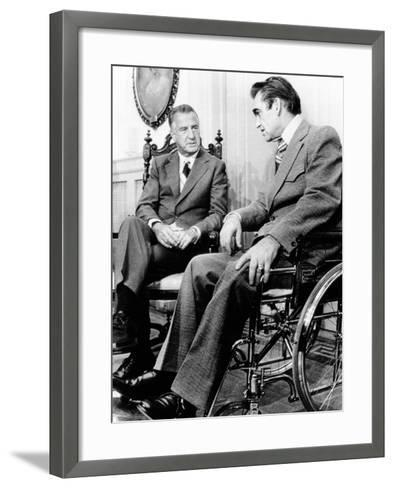 Vice President Spiro Agnew Visits with Right Wing Segregationist Democratic Governor George Wallace--Framed Art Print