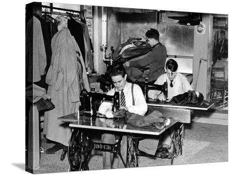 Boys Town Citizens Learned Tailoring as a Trade at Boys Town, 1944--Stretched Canvas Print
