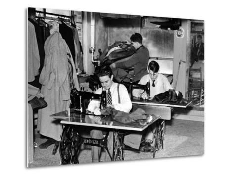 Boys Town Citizens Learned Tailoring as a Trade at Boys Town, 1944--Metal Print