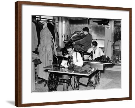 Boys Town Citizens Learned Tailoring as a Trade at Boys Town, 1944--Framed Art Print