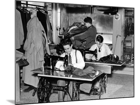 Boys Town Citizens Learned Tailoring as a Trade at Boys Town, 1944--Mounted Photo