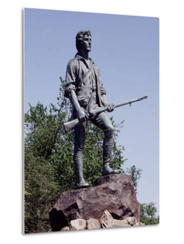 Minute Man Statue on Lexington Battle Green, the Site of the First Battle in the Revolutionary War--Metal Print
