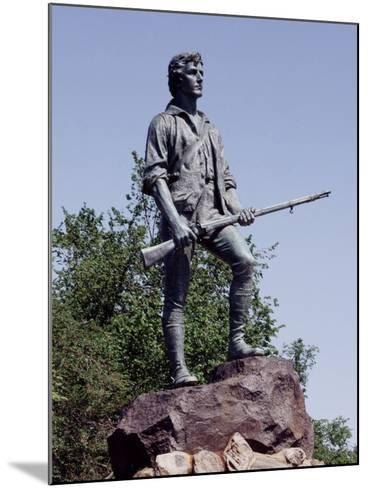 Minute Man Statue on Lexington Battle Green, the Site of the First Battle in the Revolutionary War--Mounted Photo