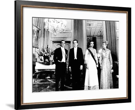 President Richard and Pat Nixon at the Shah's Niavaran Palace--Framed Art Print