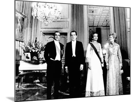 President Richard and Pat Nixon at the Shah's Niavaran Palace--Mounted Photo