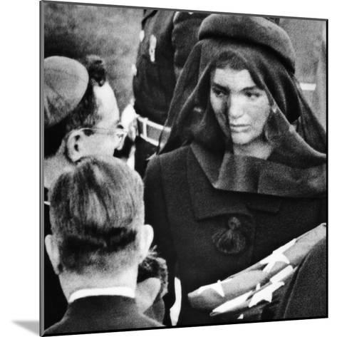 Jacqueline Kennedy at President John Kennedy's Funeral--Mounted Photo